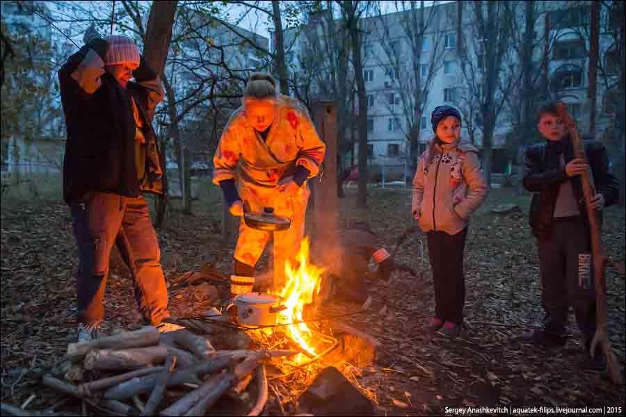 Блекаут в Щелкино. Ноябрь 2015